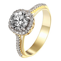 Round Cut Solitaire Ring Wedding Engagement Womens 925 Sterling Silver Promise