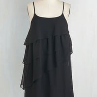 LBD Mid-length Spaghetti Straps Shift Tier to Party Dress by ModCloth