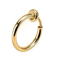 BodyJ4You Non-Piercing Septum Hoop Spring Action Goldtone Fake Body Jewelry