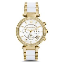 Parker Pavé Gold-Tone Acetate Watch | Michael Kors