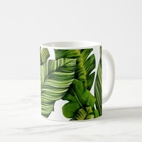 Tropical Banana Leaves Coffee Mug