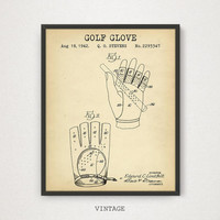 Golf Glove Patent Blueprint Art, Digital Download, Man cave Wall Art, Golfer Gift, Golf Clubhouse Decor, Golf Gifts For Men, Golf Poster
