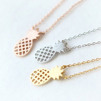 Pineapple Necklaces & Pendants Choker Necklace Women Pendant Necklace Charms Fruit Necklace Boho Chic Fruite Ananas Lead Free