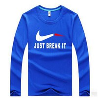 NIKE Casual Long Sleeve Top Sweater  Pullover