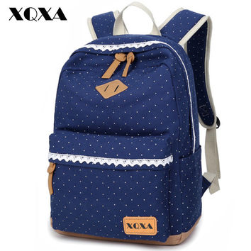 Ethnic Women Backpack Dotted Printing High Quality FREE SHIPPING