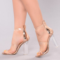 Rosy Clear Heel - Rose Gold