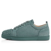 Christian Louboutin Cl Louis Junior Spikes Men's Flat Everest/everest Mat Suede 18s Sneakers - Ready Stock