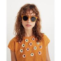 Embroidered Sunflower Top : shopmadewell tops & blouses   Madewell