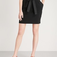 CLAUDIE PIERLOT - Belted high-rise woven mini skirt | Selfridges.com