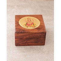 Radiant Ganesha Wooden Box