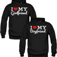 I LOVE MY BOYFRIEND AND GIRLFRIEND LOVE DESIGNED Couple Hoodie