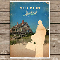 Eternal Sunshine of the Spotless Mind - Montauk - Movie Poster - Vintage Style Magazine Print Watercolor Background - Pick your Size