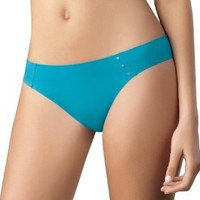 Laura Women's Seamless Thong High Quality Aqua Blue #103086