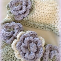 Newborn Photo Prop - Crochet Diaper Cover Pattern and Hat Pattern - Soaker Pattern - Sweet Flower