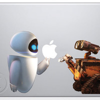 Wall-e and Eve Macbook Laptop decal