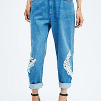 Light Before Dark Loose Fit Jeans in Blue - Urban Outfitters