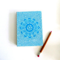 Blue and White Dream Journal: Hand painted cover Blue and white