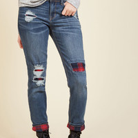 Cabin to Manhattan Jeans in Mid Wash | Mod Retro Vintage Pants | ModCloth.com