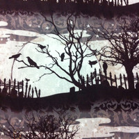 Scary Night Cotton Fabric - Halloween Sewing Supplies