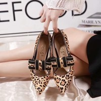 2020 New Arrivals LV Louis Vuitton Women Trending Leather leopard High Heel Shoes Best Quality
