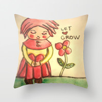 let love grow Throw Pillow by helendeer