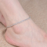 Shiny Ladies Cute Gift New Arrival Jewelry Sexy Simple Design Stylish Twisted Chain Anklet [6768801287]