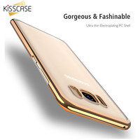 KISSCASE For Samsung S8 S7 Case Luxury Plating Transparent Hard Phone Cases For Samsung Galaxy S8 Plus S7 Edge Clear Cover Coque