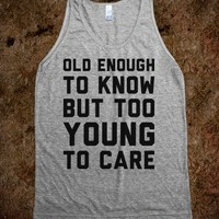 Too Young to Care - Text Tees