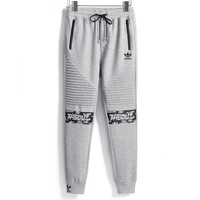 ADIDAS Clover autumn new tide brand sports trousers casual pants Grey