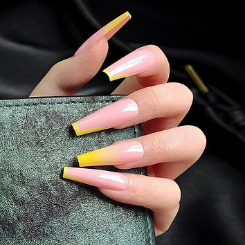New fashion ladies wear gradient color nail art tablets