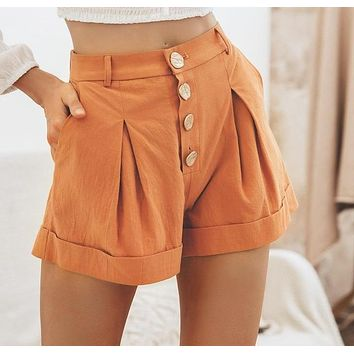 Cecily Four-Button Trouser Shorts