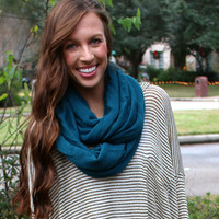 Roll Up Eternity Scarf - Turquoise