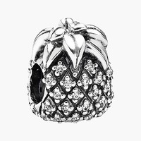 Women's PANDORA 'Sparkling' Pineapple Bead Charm - Sterling Silver/ Clear Cz