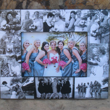 """Personalized Sister Gift, Maid of Honor Picture Frame, Custom Collage Bridesmaid Frame, Bridal Shower Gift, Parent Gift, NEW SIZE! 5"""" x 7"""""""