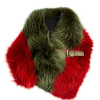 Bi-colour fox-fur stole | Fendi | MATCHESFASHION.COM US