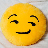 On the Sly Yellow Emoji Pillow