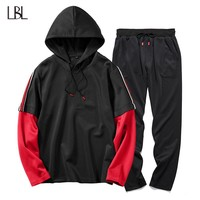 Casual Mens Hooded Tracksuit Set New Fashion Sweat suits Men Hip Hop Hoodies + Sweatpants Man's Sporting Sweatsuits Sets Hoodie