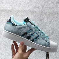 CREYON Originals Adidas Superstar W Men's Women's Shiny Shell-toe Classic Sneaker Sprot Shoes