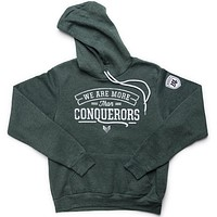 More Than Conquerors Hoodie - Forest