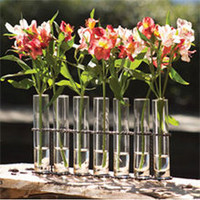 Seven Bud Vase with Iron Stand : High Camp Home - Interior Design and Home Furnishings - Truckee and Lake Tahoe California