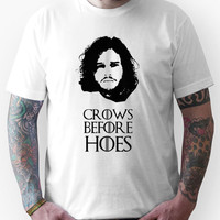 Crows Before Hoes - Game of Thrones Jon Snow. Unisex T-Shirt