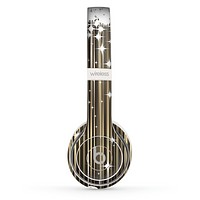 The Gold & White Shimmer Strips Skin Set for the Beats by Dre Solo 2 Wireless Headphones