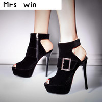 New Fashion Peep Toe Pumps shoes women's shoes High heels Platform red bottom ladies Shoes and wedding pumps Hot selling
