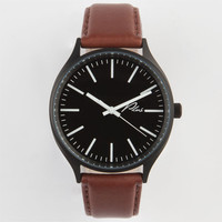 Plus Leather Watch Black/Brown One Size For Men 24449414901