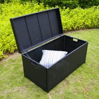 Jeco Inc. Outdoor 70 Gallon Wicker Deck Storage Box - Walmart.com
