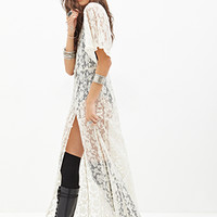 FOREVER 21 Buttoned Lace Maxi Dress