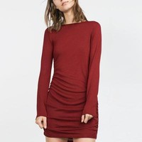 Winter Women's Fashion Knit Dress [6513126023]