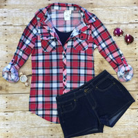 Penny Plaid Flannel Top: Ruby