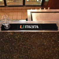 University of Miami Hurricanes Drink Mat New! - Man Cave, Bar, Game Room