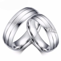 Stainless Steel Rings for Men Rings for Women Cubic Zirconia Rings Wedding Ring Sets